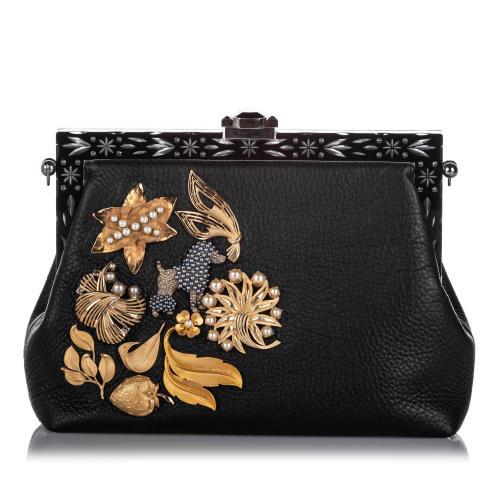 Dolce & Gabbana Embellished Leather Vanda Clutch