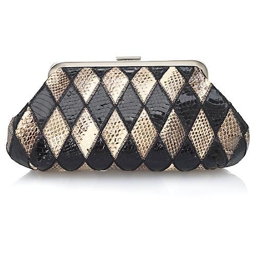 Dolce & Gabbana Harlequin Snakeskin Clutch