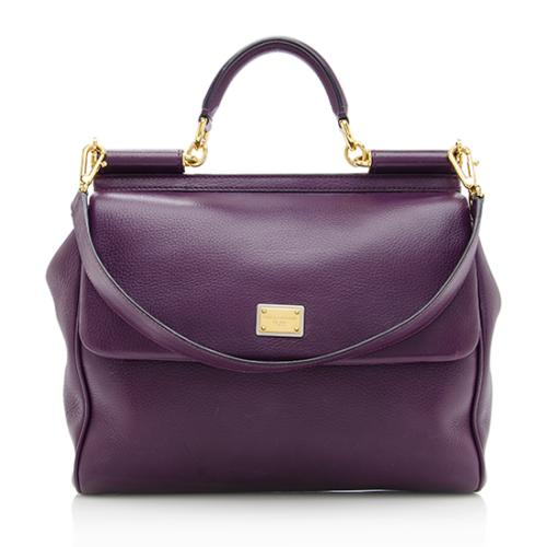 Dolce & Gabbana Leather Miss Sicily Satchel