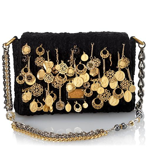 Dolce & Gabbana Miss Charles Boucle Shoulder Handbag