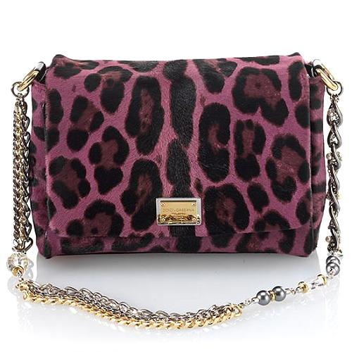 Dolce & Gabbana Miss Charles Small Jewel Haircalf Evening Bag