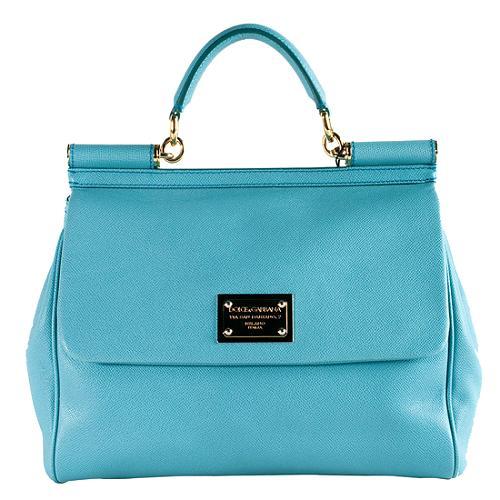 Dolce Gabbana Miss Mamma Medium Top Handle Satchel Handbag