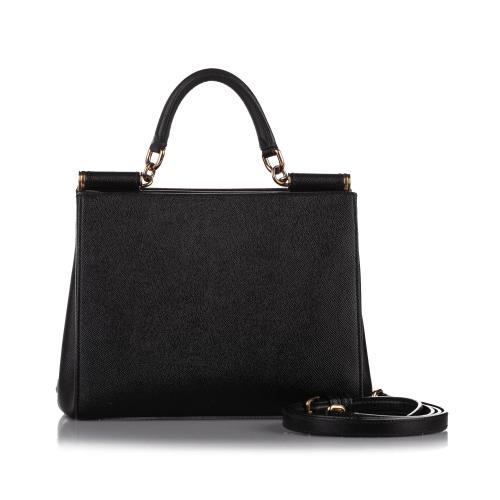 Dolce & Gabbana Miss Sicily Leather Satchel