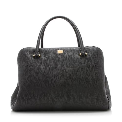 Dolce & Gabbana Pebbled Leather Business Miss Sicily Tote