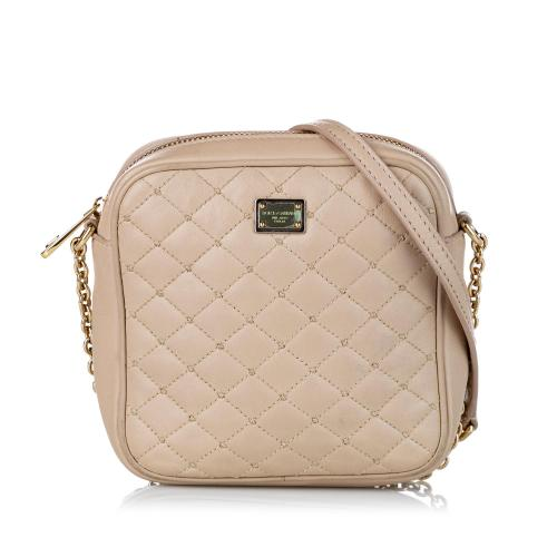 Dolce & Gabbana Quilted Leather Crossbody Bag