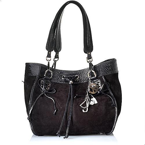 Donald J Pliner Baby Calfskin Abbey Drawstring Satchel Handbag