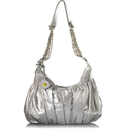 Donald J Pliner Suleto Distressed Metallic Hobo Handbag