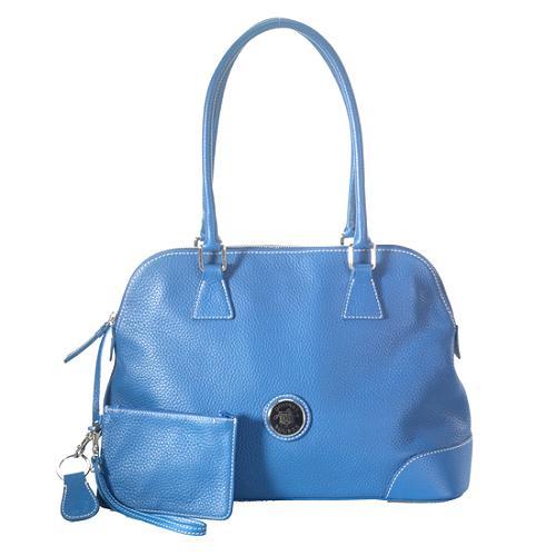 Dooney & Bourke All Weather Leather Zip Satchel Handbag