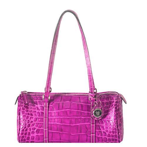 Dooney & Bourke Croc Embossed Satchel Handbag