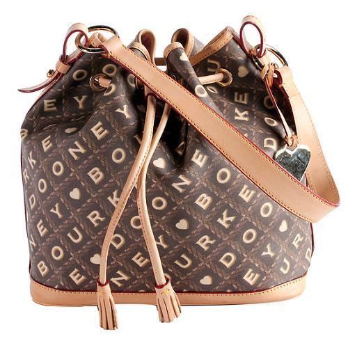Dooney & Bourke Crossword Cesto Drawstring Shoulder Handbag
