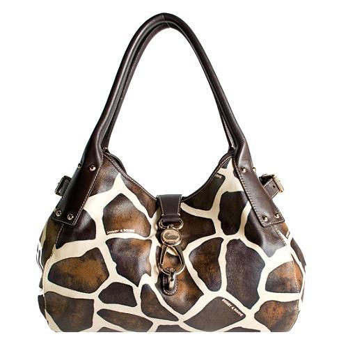 Dooney & Bourke Giraffe Logo Lock Satchel Handbag