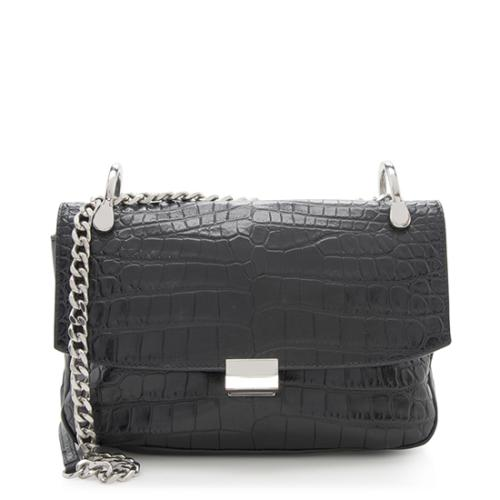 Elizabeth and James Embossed Leather Charlie Shoulder Bag