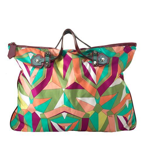 Emilio Pucci Printed Large Satchel Handbag