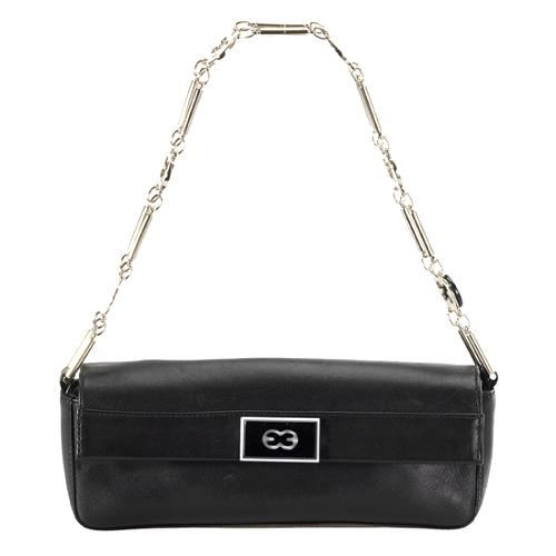 Escada Logo Chain Shoulder Handbag