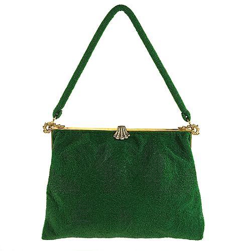 Eugene Elias Vintage Green Silk Evening Bag