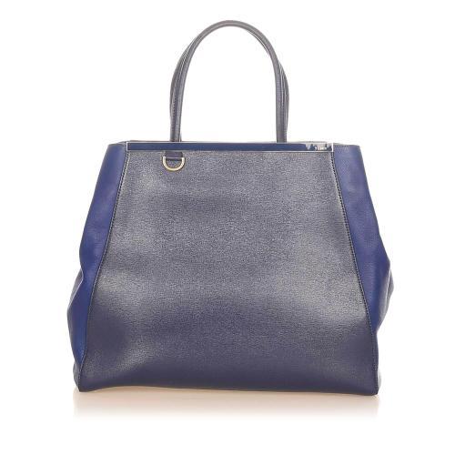 Fendi 2Jours Leather Tote Bag