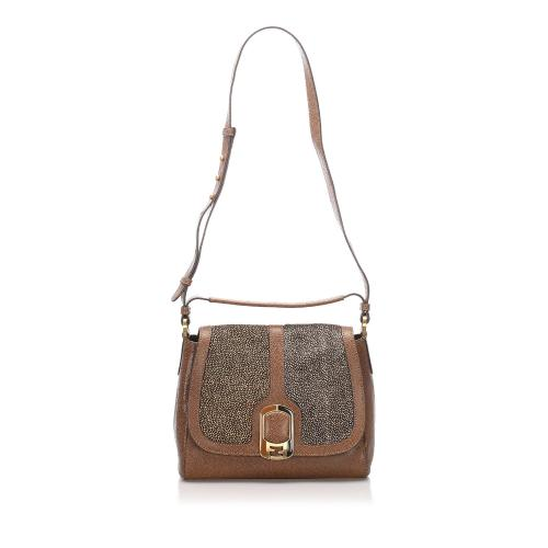 Fendi Leather Anna Galuchat Satchel