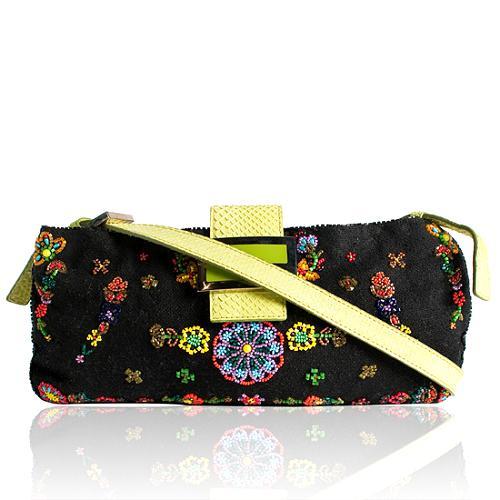 Fendi Beaded Shoulder Handbag