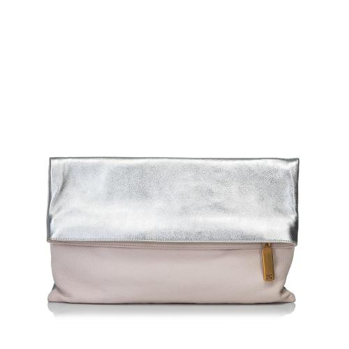 Fendi Bicolor Fold-Over Clutch