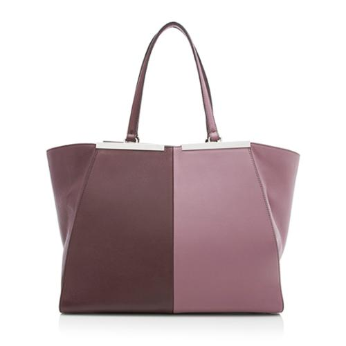 Fendi Calfskin Bi Color 3Jours Tote