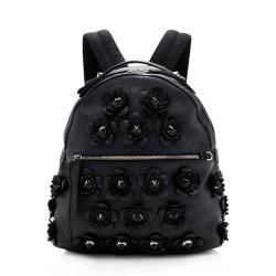 Fendi Calfskin Flowerland Backpack