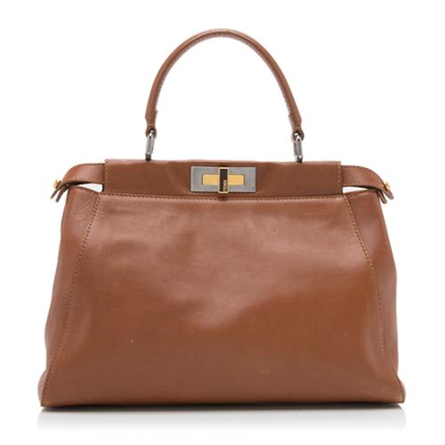 Fendi Calfskin Peekaboo Medium Satchel