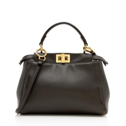 Fendi Nappa Mini Peekaboo Shoulder Bag