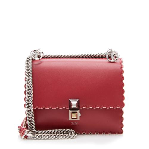 Fendi Calfskin Small Kan I Shoulder Bag