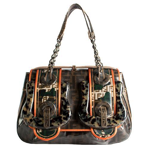 Fendi Camouflage B Bag Shoulder Handbag