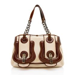 Fendi Canvas B Bag Satchel