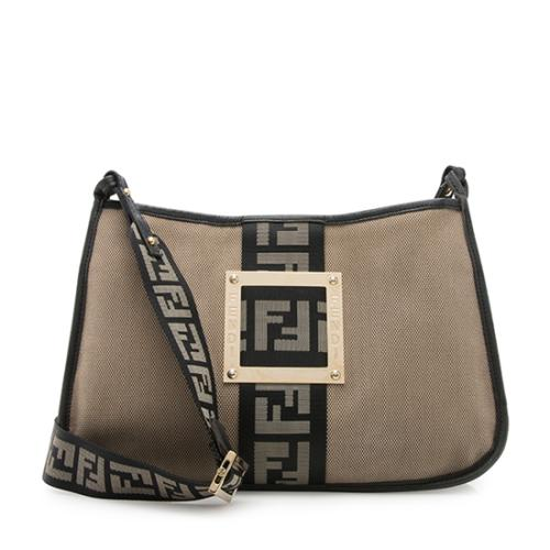 813715e87d Fendi-Canvas-FF-Logo-Shoulder-Bag 99487 front large 0.jpg