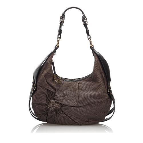 Fendi Canvas Knot Shoulder Bag