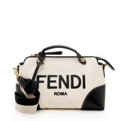 Fendi Canvas Logo By the Way Shoulder Bag