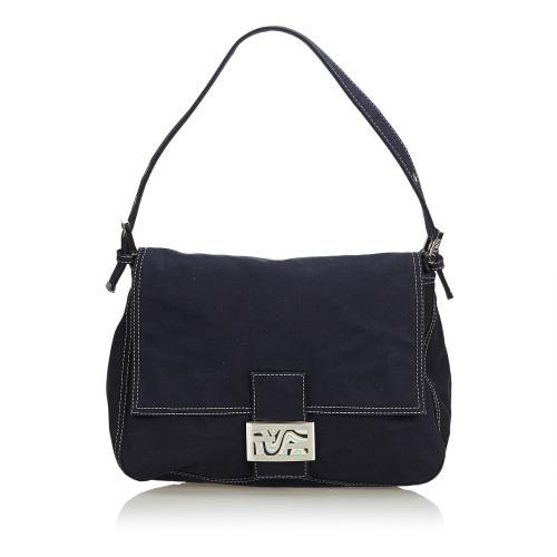 Fendi Canvas Mamma Forever Shoulder Bag