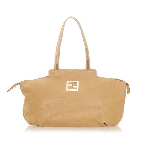 Fendi Chains Leather Tote Bag