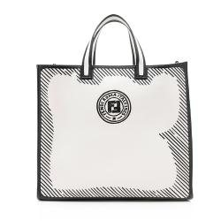 Fendi Coated Canvas Vetrifi Shopping Small Tote