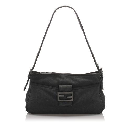 Fendi Cotton Baguette Shoulder Bag