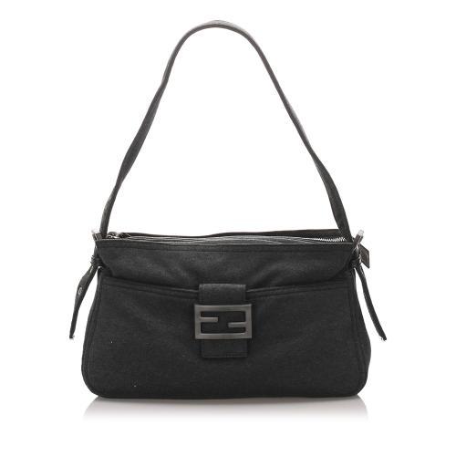 Fendi Canvas Baguette Shoulder Bag