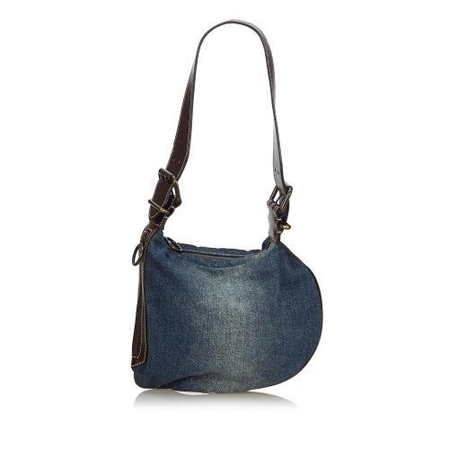 Fendi Denim Oyster Bag