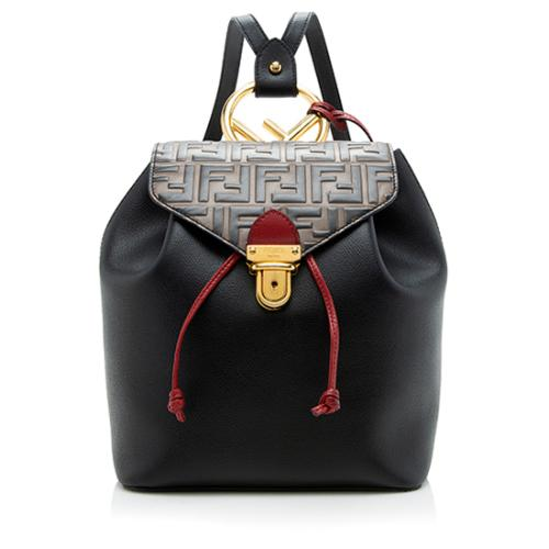 Fendi Embossed FF Calfskin Cruise Bico Backpack