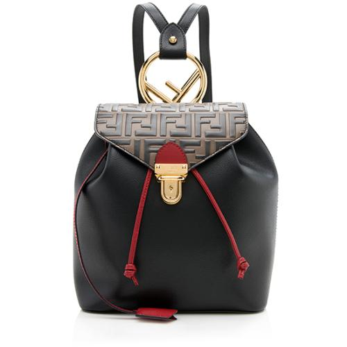 Fendi Embrossed FF Calfskin Cruise Bico Backpack