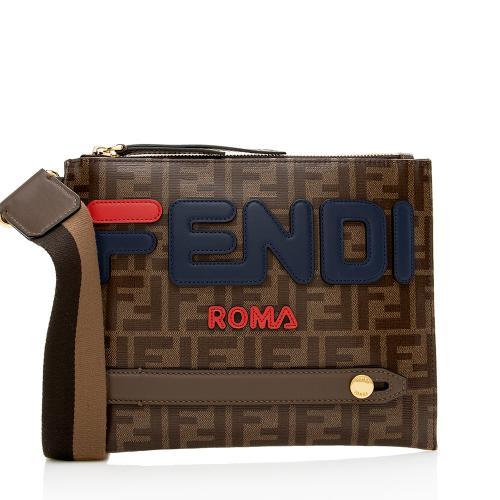 Fendi FF Coated Canvas Fila Messenger Bag