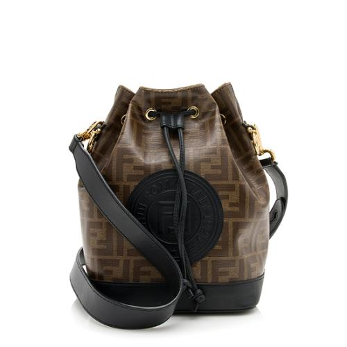 Fendi FF Coated Canvas Mon Tresor Grande Shoulder Bag
