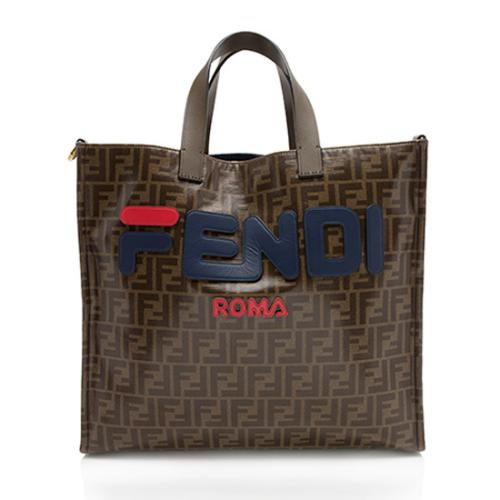 Fendi FF Coated Canvas Small Shopping Tote
