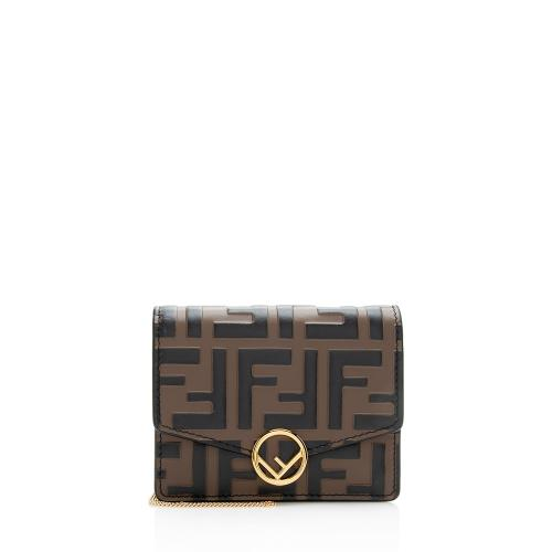 Fendi FF Embossed 1974 Mini Crossbody Bag