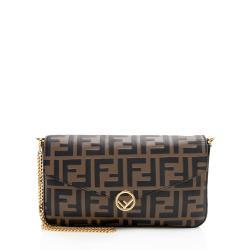 Fendi FF Embossed 1974 Wallet on Chain