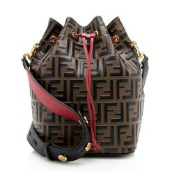 Fendi FF Embossed Calfskin Mon Tresor Grande Shoulder Bag