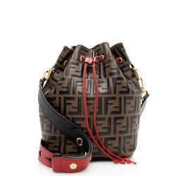 Fendi FF Embossed Calfskin Mon Tresor Grande Shoulder Bag
