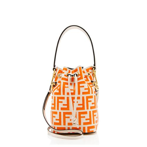 Fendi FF Embossed Calfskin Mon Tresor Mini Bucket Bag
