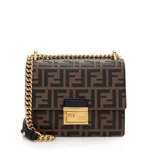 Fendi FF Embossed Kan U Small Shoulder Bag